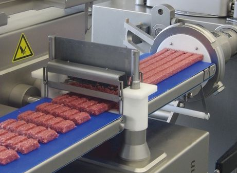 Production of rib burgers with GD 93-6 inline grinding attachment