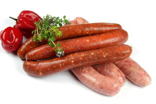 Range of fresh sausage