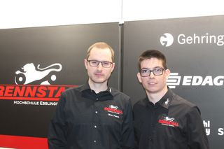 Team leader Oliver Peters and driver Christoph Lösle proudly present in the rollout of the new Stallardo '16