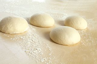 Pizza dough pieces