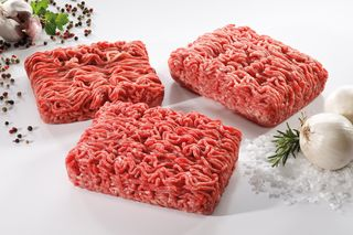 Minced meat portion
