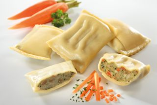 Filled pasta pockets