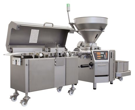GD 452 inline grinding attachment in GMD 99-3 minced meat line