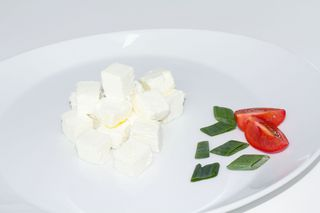 Goat cheese cubes
