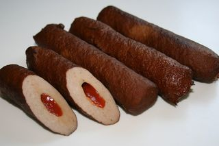 Filled meat sticks