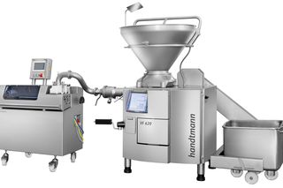 Handtmann MBF1 round former with VF 600 vacuum filler