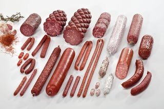 Range of dry sausage products