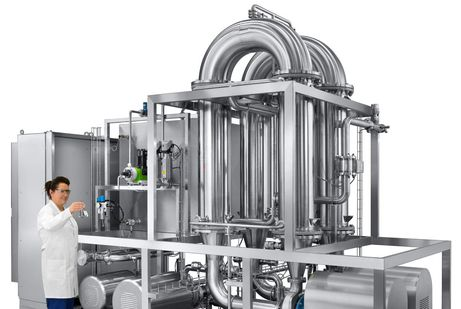 CS caustic solution filtration system