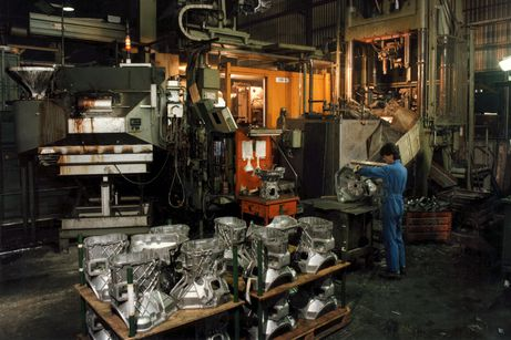 High-pressure die casting hall 1970
