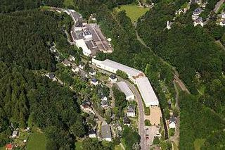 Aerial photograph of light metal foundry in Annaberg