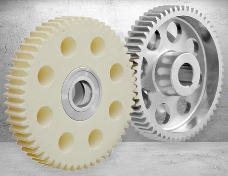The ideal sliding properties of Lauramid<sup>®</sup> toothed wheels are also demonstrated with plastic-steel combinations
