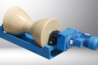 Complete system: Double taper roller with motor, gear and support stand