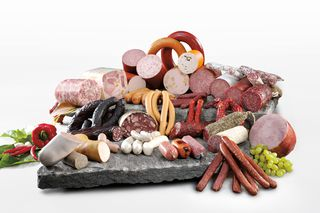 Assortiment des saucisses